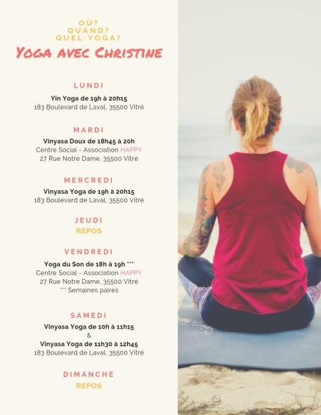 Planning Yoga Christine H. PranaRun Yoga